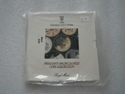 Great Britain 1989 Uncirculated Coin Set (B) In Sealed Pack