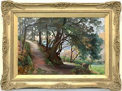 A Scottish Woodland Antique Oil Painting by Robert Weir Allan (1851–1942)