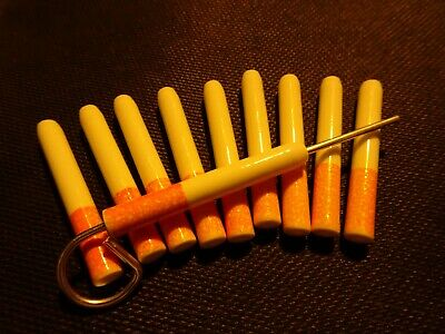 """10 X Ceramic Bat One Hitter Cigarette Style Pipe SMALL Dugout 2 1/4"""" 2 POKERS"""