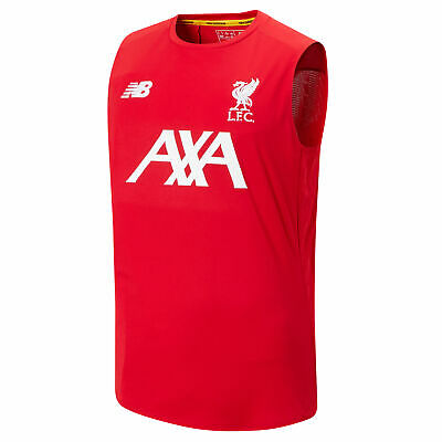 New Balance Official Mens Liverpool FC Off-Pitch Football Vest Top Red