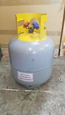 Refrigerant Recovery Reclaim Cylinder Tank - 50lb Pound 400 PSI used. Empty