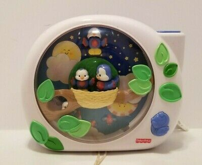 GUC Working Fisher Price Flutterbye Dreams Bluebirds Lullabye Crib Toy Projector