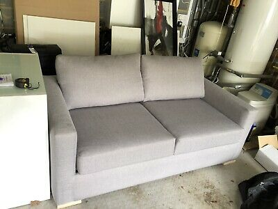 Grey Sofa Bed Immaculate /used Less Then 5 Times