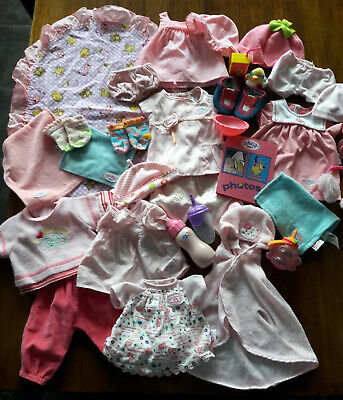 Large Bundle of Dolls Clothes & Accessories Includes Baby Born Baby Annabell
