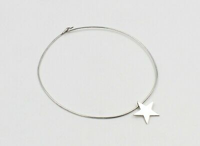 TIFFANY & CO. STERLING SILVER STAR PENDANT CHOKER NECKLACE w/ POUCH #750B-9