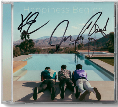 Jonas Brothers Happiness Begins CD with signed art card  UK Exclusive sucker