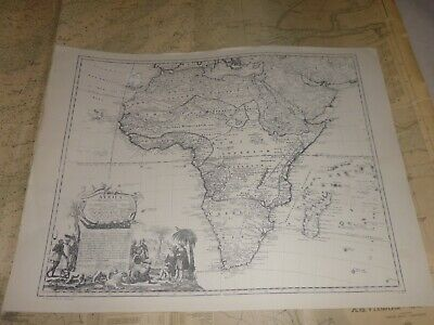 Large Map of AFRICA. Reproduction of a 1737 Antique Map.