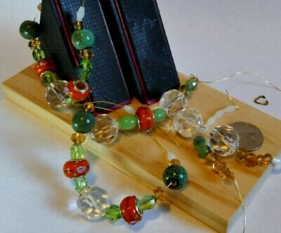 "MODS NECKLACE BUILDERS. ""Classy Green"". U create 5 Necklace sections, earrings"