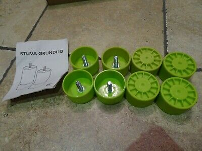 Ikea Stuva System  Green Replacement Feet only X 8