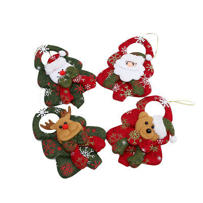 Xmas Ornaments Gift Tree Toy Doll Hang Home Decor Santa Claus Snowman Novel F