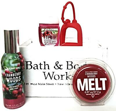 Bath and Body Works Cranberry Woods Wax Melt, Room Spray, Pocketbac & Holder