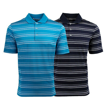 adidas Men's Puremotion Textured Stripe Polo 2-Pack