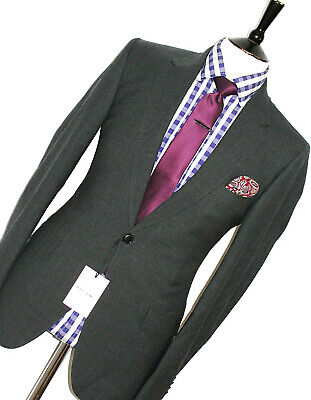 Bnwt Mens Paul Smith Mayfair Fit London The Mainline Charcoal Grey Suit 38R W32