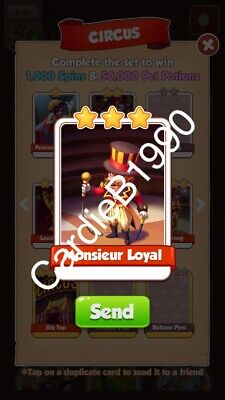 X1 Monsieur Loyal Coin Master trading card !!!Super Fast Dispatch!!!