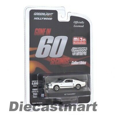 Greenlight 1:64 Gone in 60 Seconds Chrome Edition Eleanor 1967 Mustang Chase Car