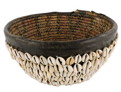 Hausa Bowl Cowrie Shells Nigeria Old African Art