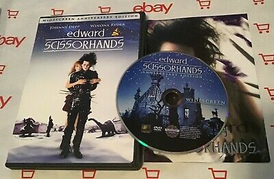 Edward Scissorhands (DVD, 1990, 10th Anniversary Edition) + Insert! Tim Burton