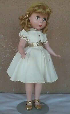 "Madame Alexander vintage doll 1940s Maggie face 14"" tagged dress adult owner"