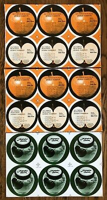 Beatles Harrison All Things Must Pass original unused labels FULL SETS Near Mint