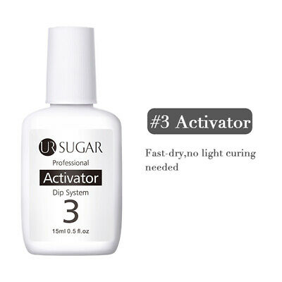 UR SUGAR 15ml Nail Art Dip Liquid #3 Activator for Dipping Powder NO Need UV LED