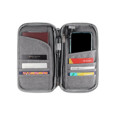 RFID Blocking Passport Card Holder Neck Stash Pouch Security Travel Wallet New