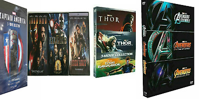 Marvel Trilogies Collection IRON MAN 1-3, CAPTAIN AMERICA 1-3 & THOR 1-3 **NEW