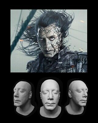 Life Mask Plastic Javier Bardem Cast Lifemask Lifecast Pirates Of The Caribbean