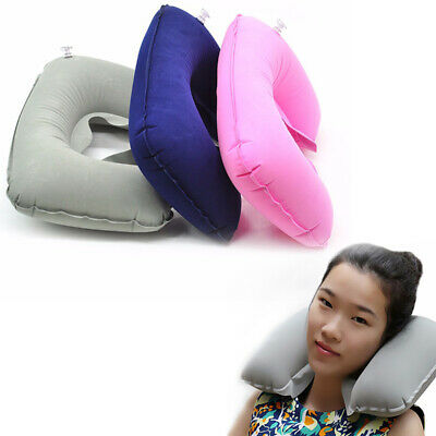 Travel Office Pillow Inflatable Neck Car Head Rest Airplane Soft Cushion Trip