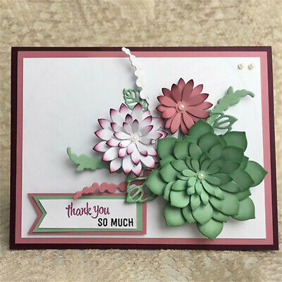 3D Stamp Crafts Blossom Flower Metal Cutting Dies Embossing DIY Template Hot