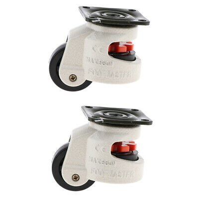 2 Pieces Leveling Foot Caster Screw Wheel Adjustable Height Foot Master