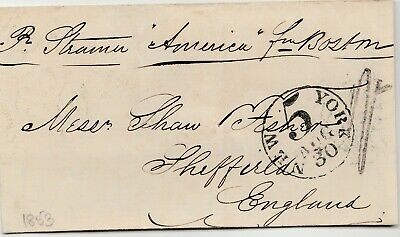 Liverpool Maritime Mail Iowa America to United Kingdom