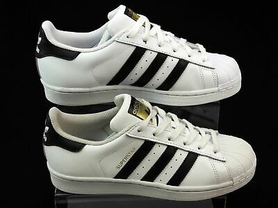 Unisex Adidas Originals Superstar White Leather Running Trainers Size Uk 4 Faded