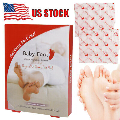 Original Baby Foot Exfoliant Foot Peel Mask 2.4 Fl. Oz. Lavender Scented Pair US