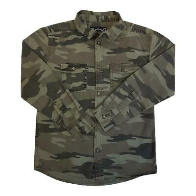 Boys Camouflage Shirt Long Sleeve Collar Ages 8 to 14 years Cotton Brand NEW