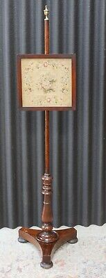 Antique Fire Screen Embroidery Pole Screen - Delivery Available