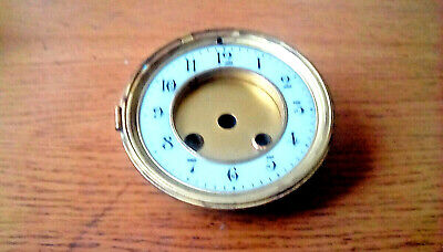 Vintage French clock face enamel dial parts/spares