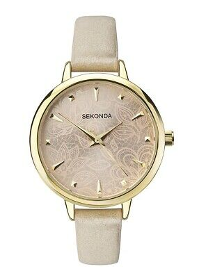 Sekonda Editions Ladies Classic Analogue Quartz Watch with Patterned Dial 2665