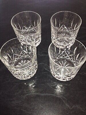 Set Of 4 Waterford Lismore Crystal Tumblers Made IN Ireland