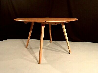 Vintage Ercol Oval Drop Leaf Table Blonde Excellent Condition. Retro Cool