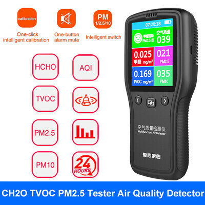 6 in 1 Digital TVOC PM2.5 CH2O Formaldehyde Tester Monitor Gas Analyzer Indoor