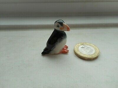 Puffin  - Pottery- Beautiful Unusual Tiny Miniature Detailed Puffin Bird
