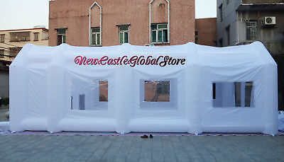 Custom Made Blanc Portable Gonflable Géant Spray Peinture Booth Boitier
