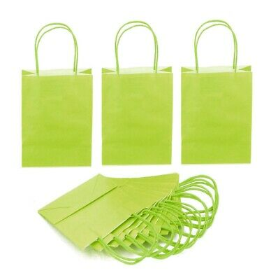 Green Extra Small - Birthday Party Gift Bags / Paper Loot Goody Bag 15x20+8cm