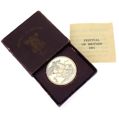 1951 UK George VI Festival Of Britain Crown w/ Original Box