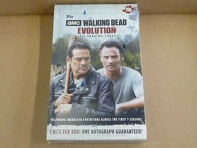 2017 Topps THE WALKING DEAD EVOLUTION FACTORY SEALED HOBBY BOX 2 HITS