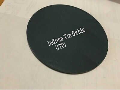 """Indium Tin Oxide (ITO) sputtering target """"5.900x"""".250 thk 99.99% purity"""
