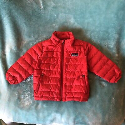 c07830544 Patagonia Red Baby Down Sweater Puffer Jacket Coat Zip Up Sz 12 MONTHS