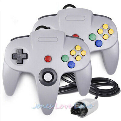 1/2X N64 Controller Joystick Gamepad Long Wired for Classic Nintendo 64 Console