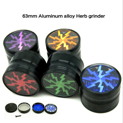 1PC 63mm 4Layer Aluminum Alloy Herbal Herb Tobacco Grinder Spice Smoke Crusher