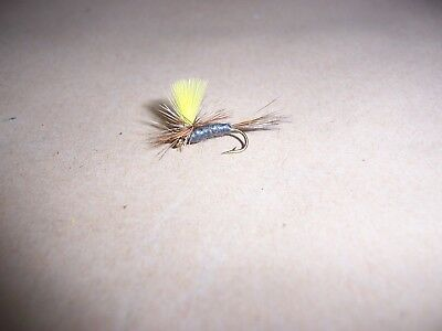 12 x Blue Winged Olive dry trout fishing flies size 16 by Salmoflies